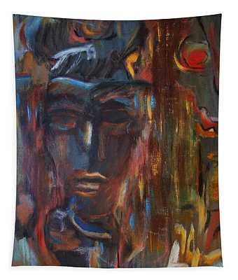 Abstract Man Tapestry