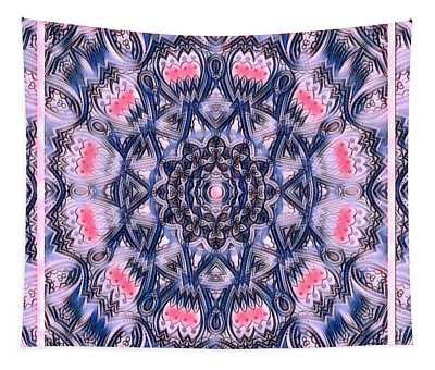 Abstract Mandala Pattern Tapestry