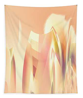 Abstract Orange Yellow Tapestry