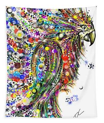 Abstract Parrot Tapestry