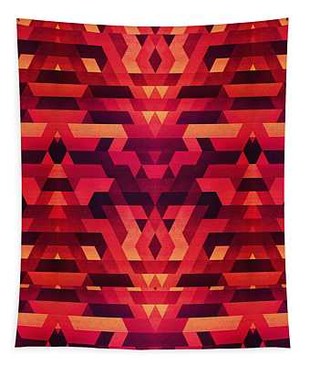 Abstract Red Geometric Triangle Texture Pattern Design Digital Futrure  Hipster  Fashion Tapestry