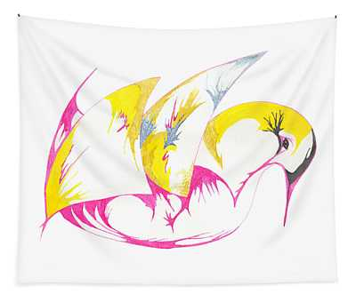 Abstract Swan Tapestry