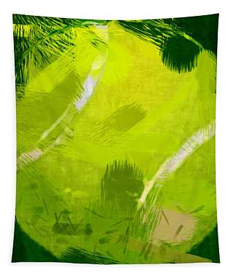 Abstract Tennis Ball Tapestry