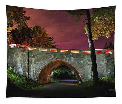 Acadia Carriage Bridge Under The Stars Tapestry