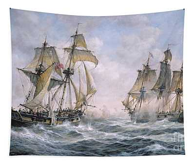 Action Between U.s. Sloop-of-war 'wasp' And H.m. Brig-of-war 'frolic' Tapestry