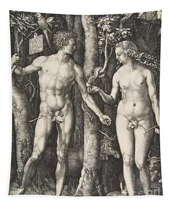 Garden Of Eden Drawings Wall Tapestries
