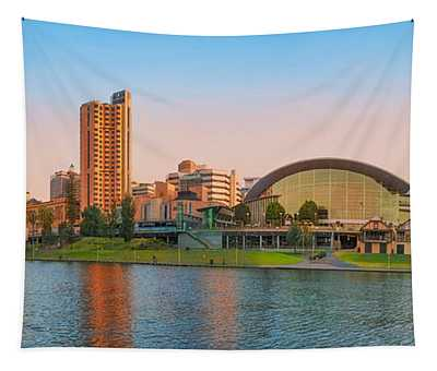 Adelaide Riverbank Panorama Tapestry