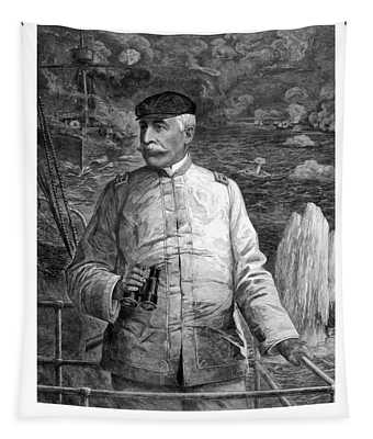 Admiral Dewey At Sea Tapestry
