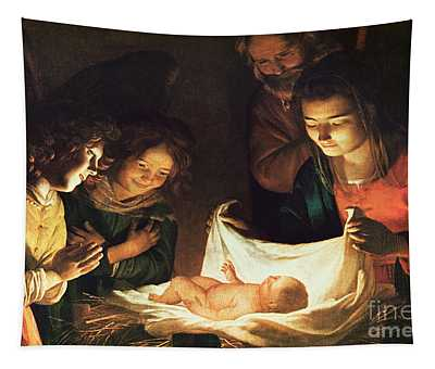 Adoration Of The Baby Tapestry