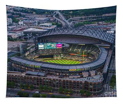 Aerial Seattle Safeco Field Mariners Tapestry