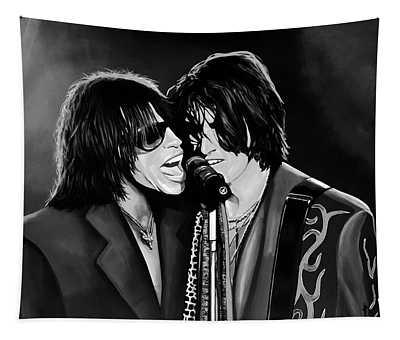 Aerosmith Toxic Twins Mixed Media Tapestry