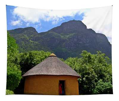 African Hut South Africa Tapestry