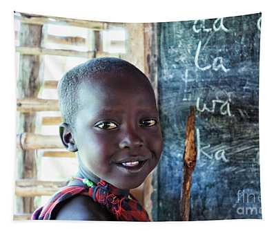 Maasai School Child Tapestry