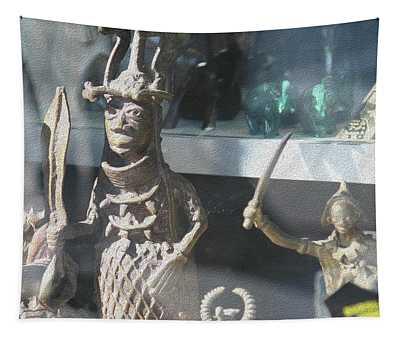 African Warrior Figurine Tapestry