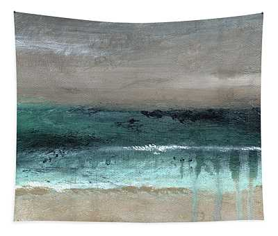 After The Storm 2- Abstract Beach Landscape By Linda Woods Tapestry