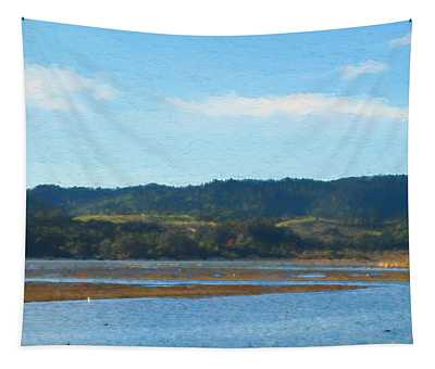 Afternoon At Marin Wetlands Tapestry