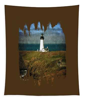 Afternoon At The Yaquina Head Lighthouse Tapestry
