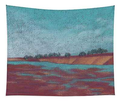 Afternoon On Lebata River Tapestry