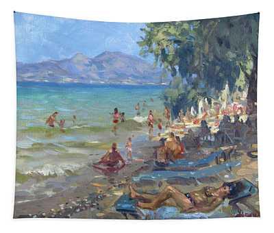 Agrilesa Beach Athens  Tapestry