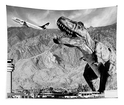 Airplane Food Black And White Tapestry