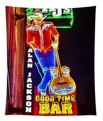 Aj's Good Time Bar Tapestry