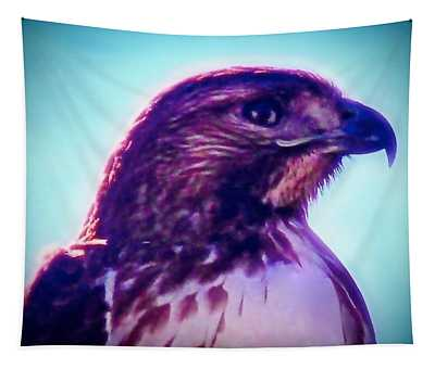 Ak-chin Red-tailed Hawk Portrait Tapestry