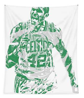 Al Horford Boston Celtics Pixel Art 7 Tapestry