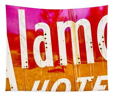 Alamo Hotel Sign Abstract Tapestry