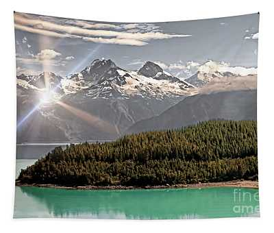 Alaskan Mountain Reflection Tapestry