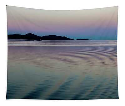 Alaskan Sunset At Sea Tapestry