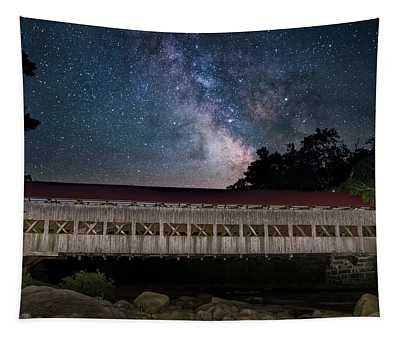 Albany Covered Bridge Under The Milky Way Tapestry