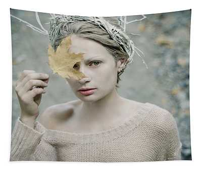 Albino In Forest. Prickle Tenderness Tapestry