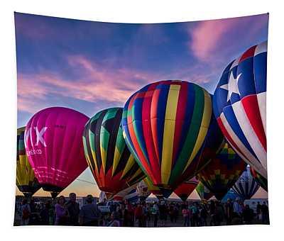 Albuquerque Hot Air Balloon Fiesta Tapestry