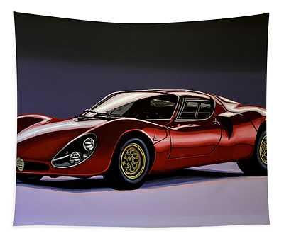 Alfa Romeo 33 Stradale 1967 Painting Tapestry