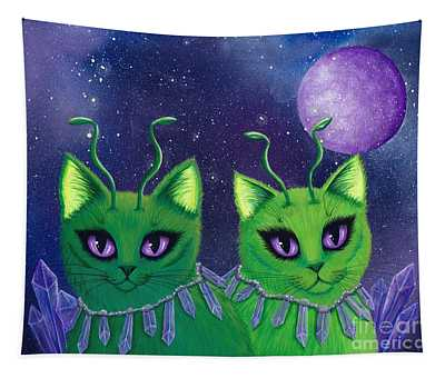 Alien Cats Tapestry