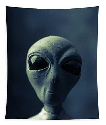 Alien Encounter Tapestry