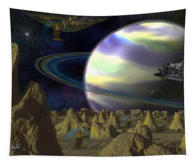 Alien Repose Tapestry