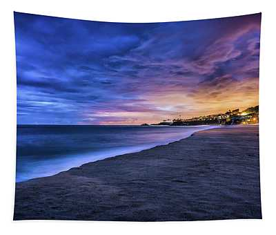 Aliso Beach Lights Tapestry