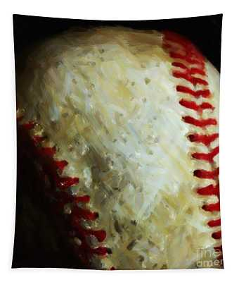 All American Pastime - Baseball - Square - Painterly Tapestry