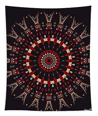 Tapestry featuring the digital art All Arrows Hit The Bullseye by Joy McKenzie