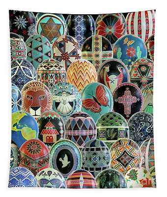 All Ostrich Eggs Collage Tapestry