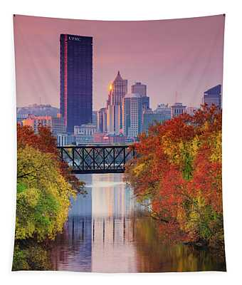 All Pittsburgh Pink  Tapestry