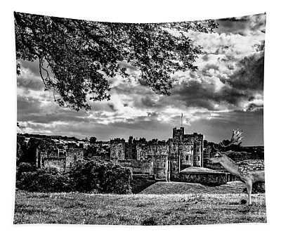 Alnwick Castle And Fallow Deer Tapestry
