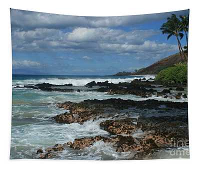 Aloha Island Dreams Paako Beach Makena Secret Cove Hawaii Tapestry