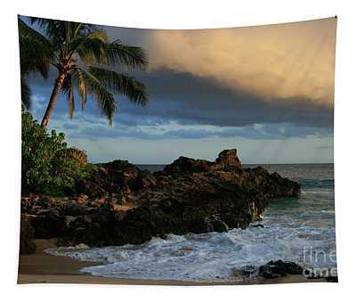 Aloha Naau Sunset Paako Beach Honuaula Makena Maui Hawaii Tapestry