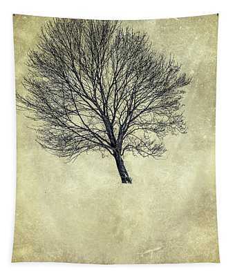 Alone In The Woods Tapestry