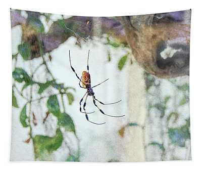Along Came A Spider Tapestry