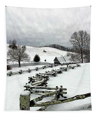 Along The Locust Rails In Winter Tapestry