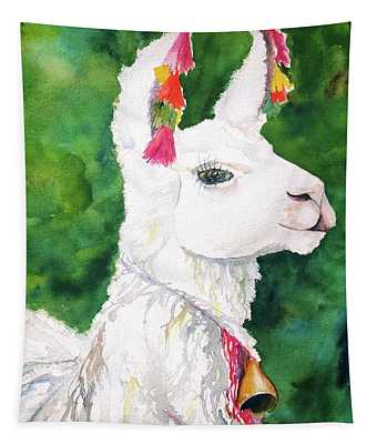 Alpaca With Attitude Tapestry
