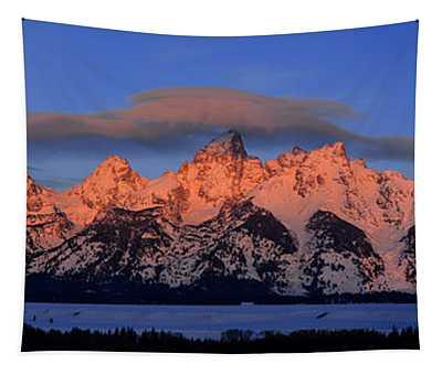 Alpenglow Tetons 2 Tapestry
